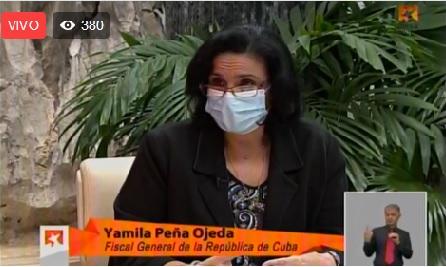 Yamila Peña Ojeda, Fiscal General de la República de Cuba