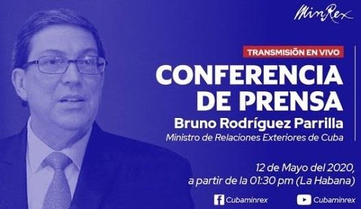 El Ministro de Relaciones Exteriores de Cuba, Bruno Rodríguez Parrilla, denuncia el silencio cómplice del Gobierno estadounidense
