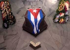 Mausoleo donde reposan los restos de José Martí, Héroe Nacional de Cuba.