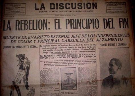 Así reflejó la prensa de entonces la matanza de negros en las montañas del oriente cubano.
