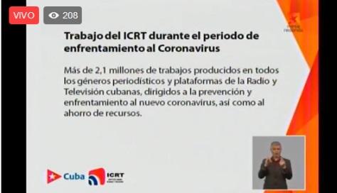 Estrategia de la Radio y la Telvisión en la etapa de recuperaci`´on post-covid-19. Detalles en la mesda redonda informativa.
