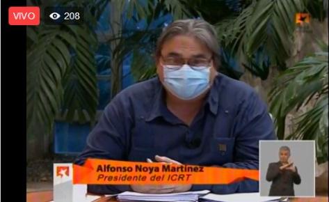 Presidente del ICRT en Mesa Redonda Informativa sobre el quehacer de la radio y la televisión en la recuperación post-covid-19