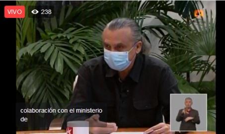 Vice-Presidente del ICRT en Mesa Redonda Informativa sobre el quehacer de la radio y la televisión en la recuperación post-covid-19