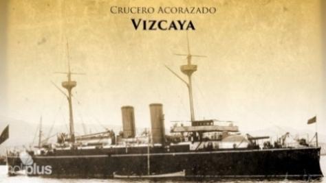 Crucero Vizcaya de la flota española.