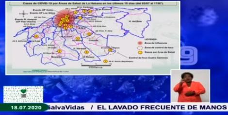 Mayores problemas de contagios en la capital cubana.