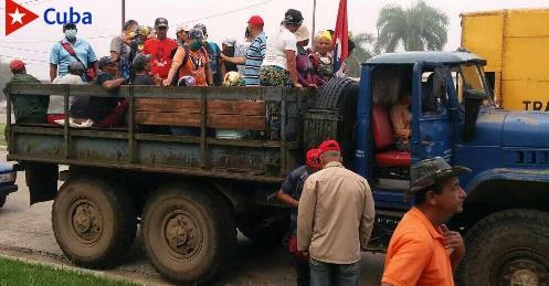 En el municipio Segundo Frente movilizaciones hacia la producción de alimentos. Foto: Eudis Cabrera
