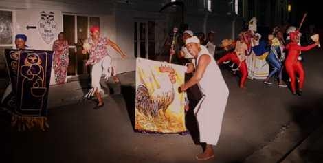 Danzarios tradicionales en Santiago de Cuba