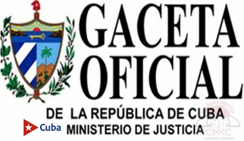 Gaceta Oficial de la República de Cuba. Imagen: Santiago Romero Chang.