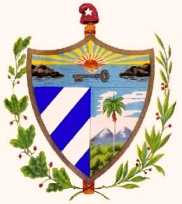 Escudo Nacional símbolo patrio de Cuba Libre y Soberana.